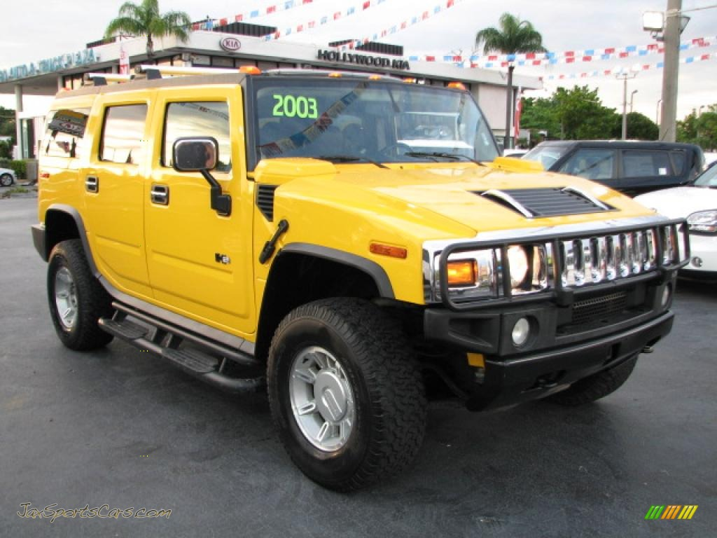 2003 Hummer H2 Suv In Yellow 143809 Jax Sports Cars