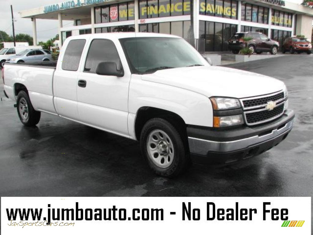 2006 chevrolet silverado 1500 extended cab in summit white 237379 jax sports cars cars for. Black Bedroom Furniture Sets. Home Design Ideas