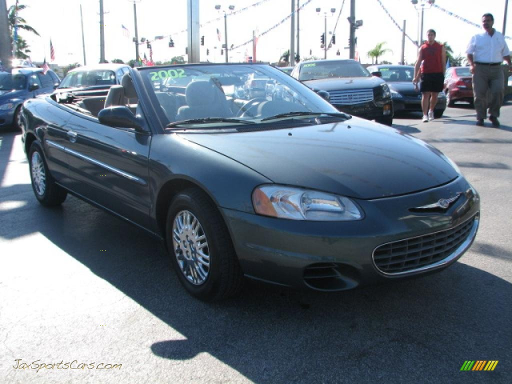 2002 chrysler sebring lx convertible in onyx green pearl 183330. Cars Review. Best American Auto & Cars Review