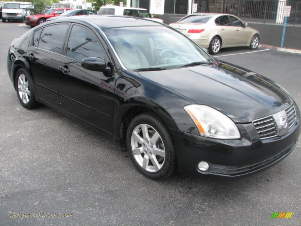 2004 nissan maxima 3 5 se in onyx black 820470 jax sports cars cars for sale in florida. Black Bedroom Furniture Sets. Home Design Ideas