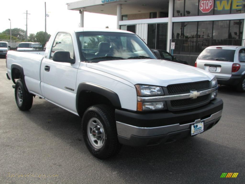 2004 chevrolet silverado 2500hd regular cab in summit white photo 6 173331 jax sports cars. Black Bedroom Furniture Sets. Home Design Ideas