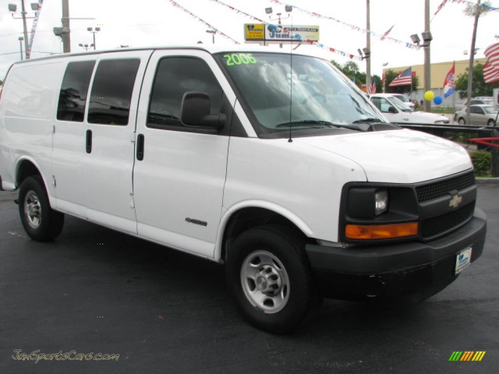 2006 chevrolet express 2500 cargo van in summit white 109990 jax sports cars cars for sale. Black Bedroom Furniture Sets. Home Design Ideas