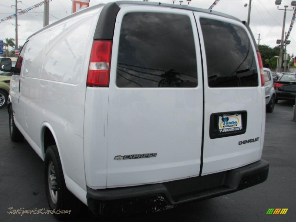 2006 chevrolet express 2500 cargo van in summit white photo 7 109990 jax sports cars cars. Black Bedroom Furniture Sets. Home Design Ideas