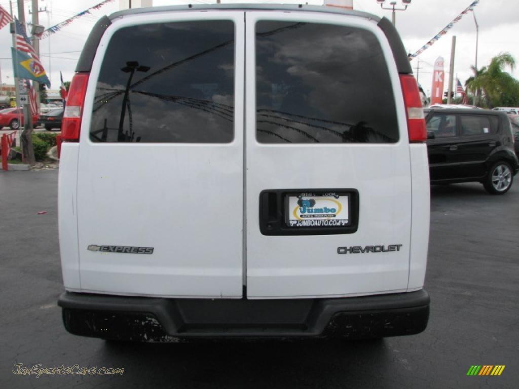 2006 chevrolet express 2500 cargo van in summit white photo 8 109990 jax sports cars cars. Black Bedroom Furniture Sets. Home Design Ideas