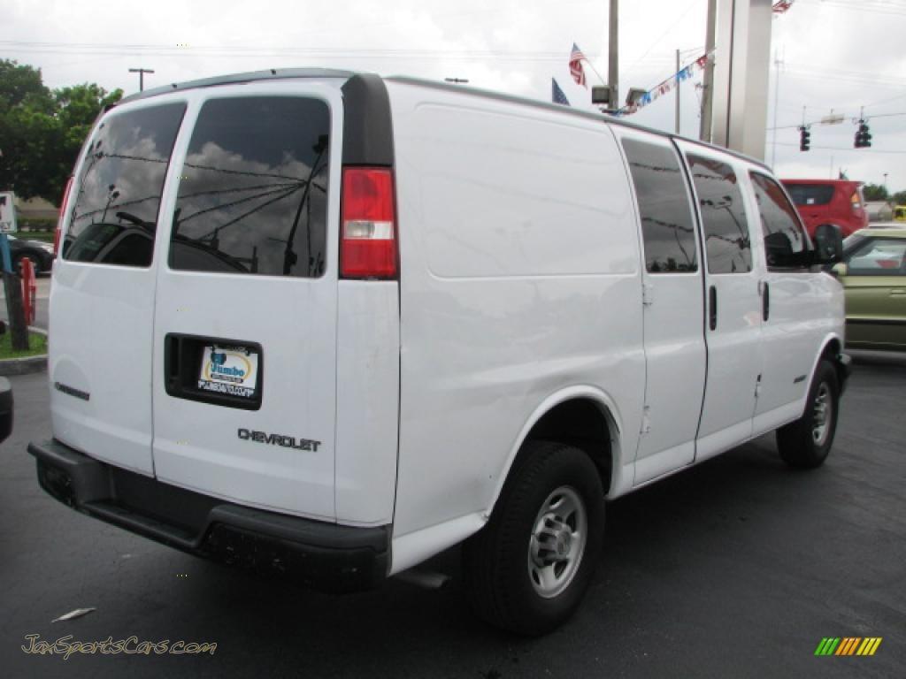 2006 chevrolet express 2500 cargo van in summit white photo 10 109990 jax sports cars. Black Bedroom Furniture Sets. Home Design Ideas