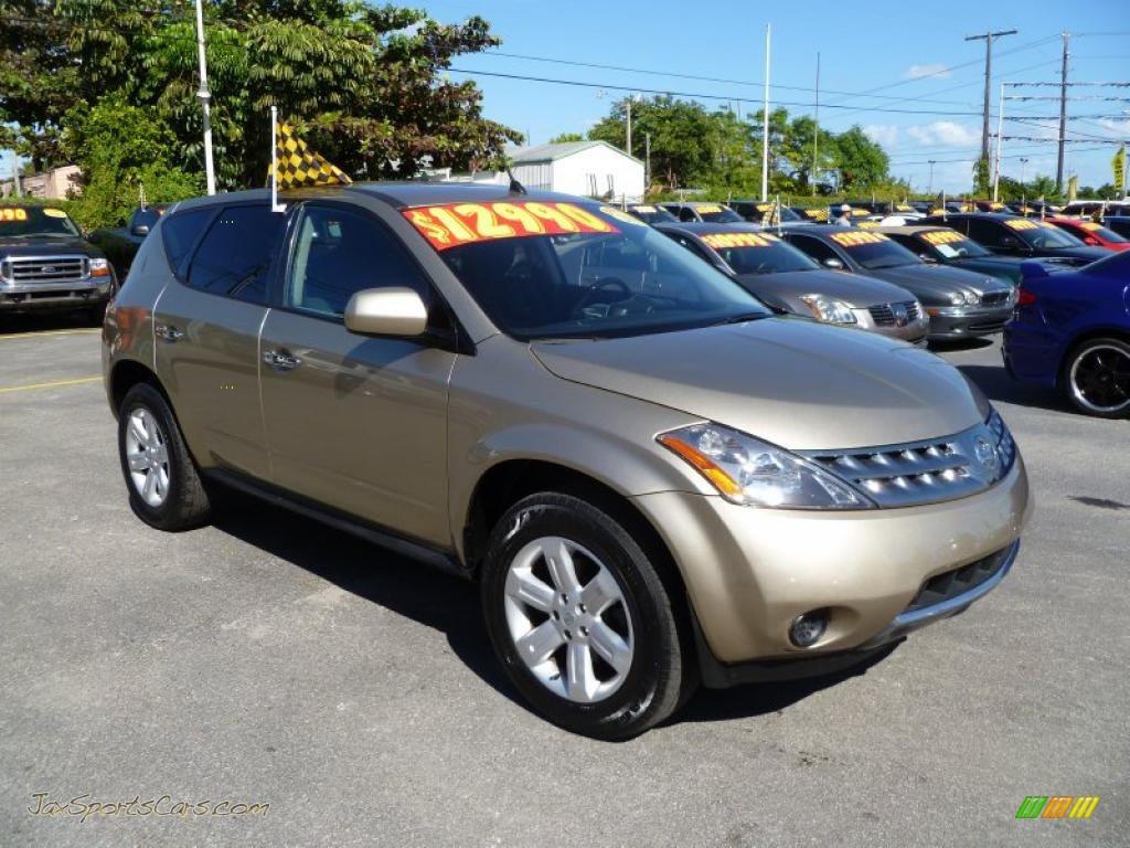 2006 nissan murano s awd in chardonnay metallic 503461 jax sports cars cars for sale in. Black Bedroom Furniture Sets. Home Design Ideas