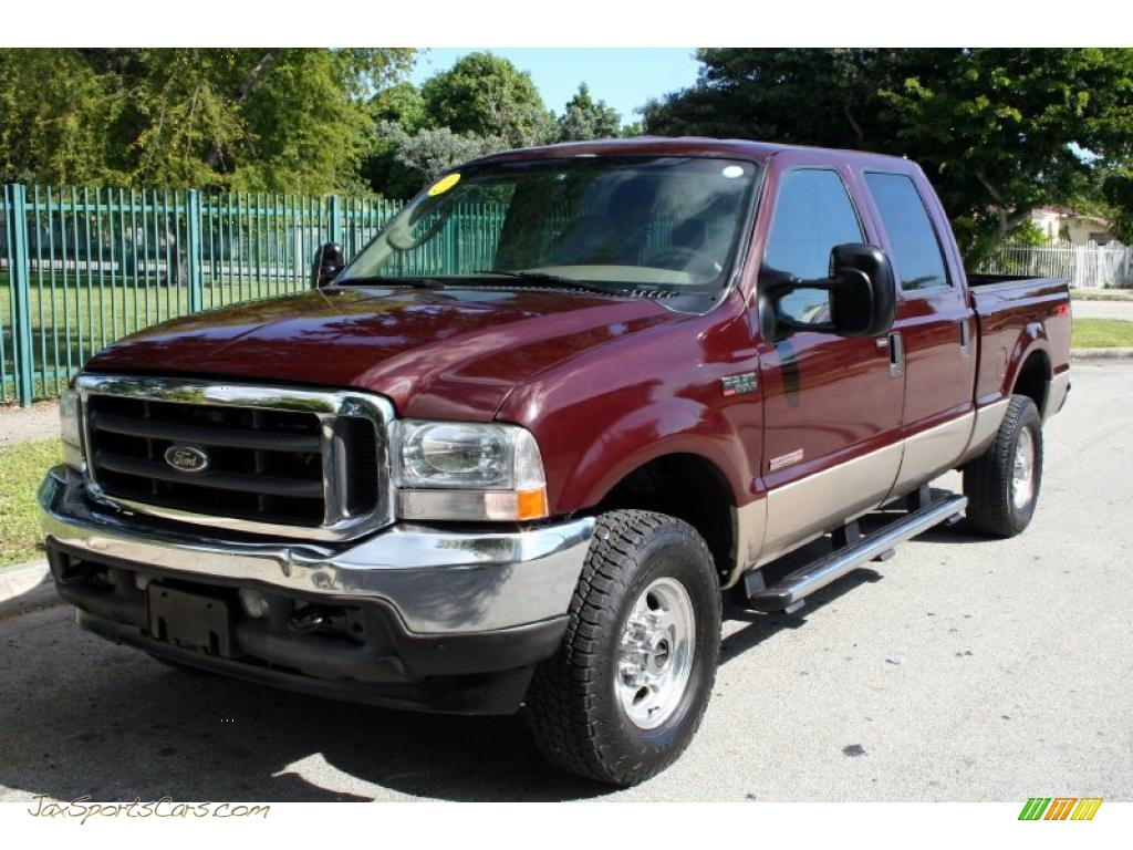 2004 ford f250 super duty lariat crew cab 4x4 in dark toreador red metallic b75831 jax. Black Bedroom Furniture Sets. Home Design Ideas