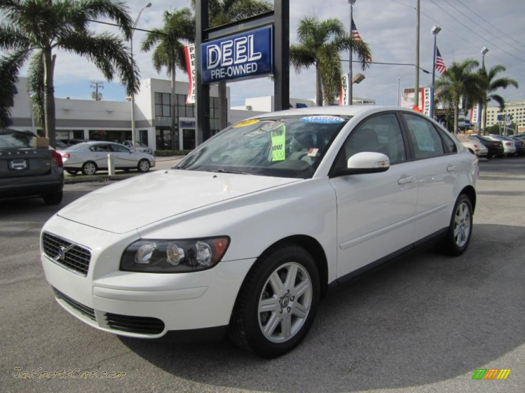2007 volvo s40 in ice white 277579 jax sports. Black Bedroom Furniture Sets. Home Design Ideas