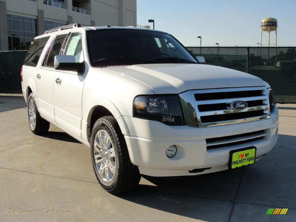 2011 ford expedition el limited in white platinum tri coat f13462 jax sports cars cars for. Black Bedroom Furniture Sets. Home Design Ideas