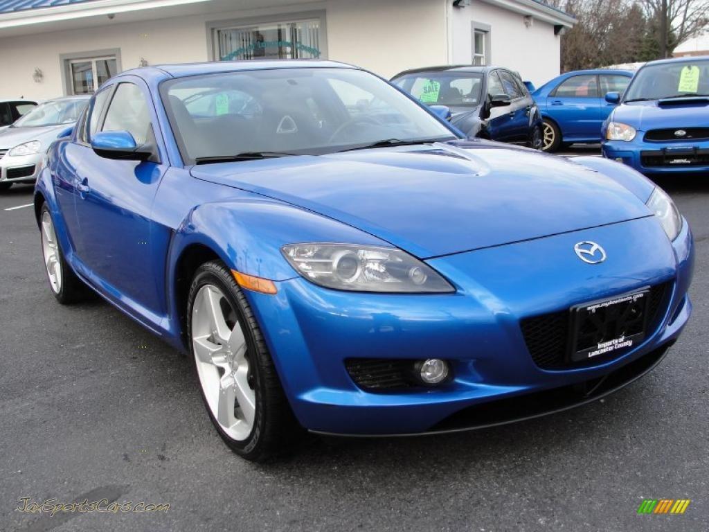 2004 mazda rx 8 in winning blue metallic 139029 jax sports cars cars for sale in florida. Black Bedroom Furniture Sets. Home Design Ideas