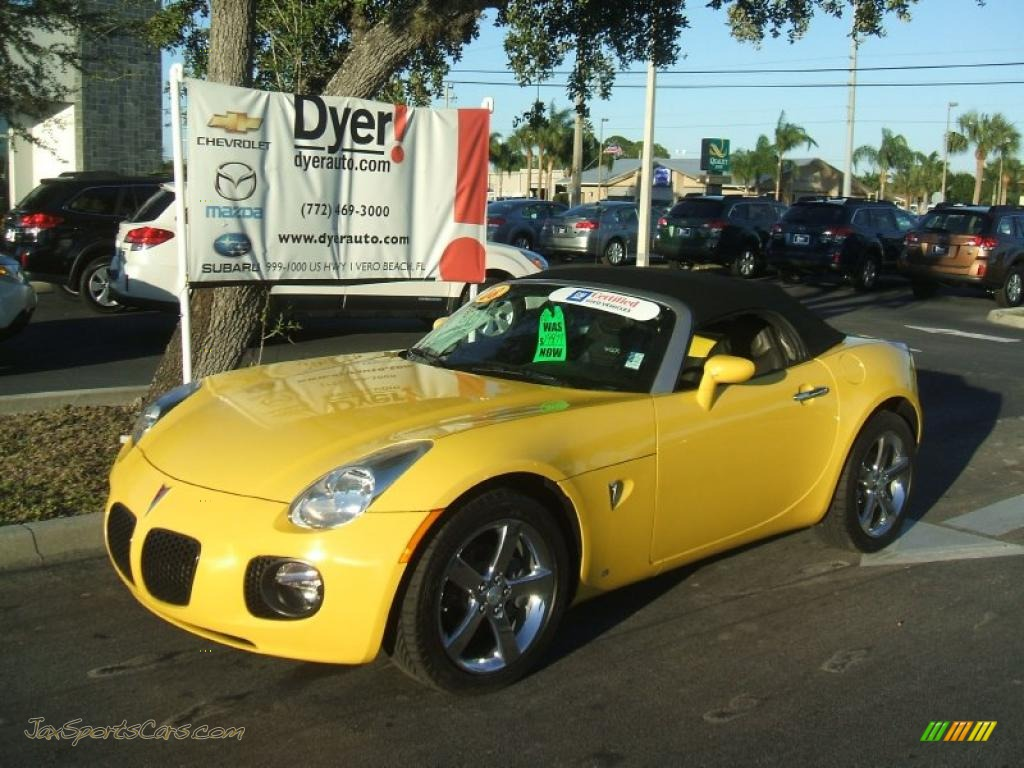 2008 Pontiac Solstice Gxp Roadster In Mean Yellow 118247