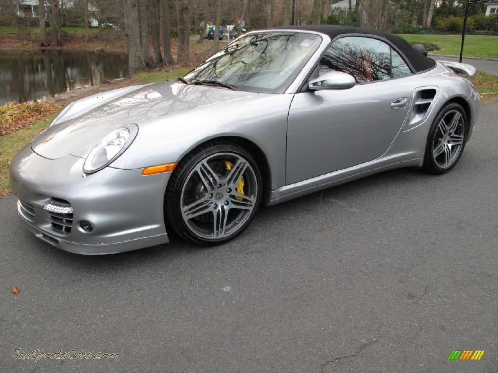 2008 porsche 911 turbo cabriolet in gt silver metallic. Black Bedroom Furniture Sets. Home Design Ideas
