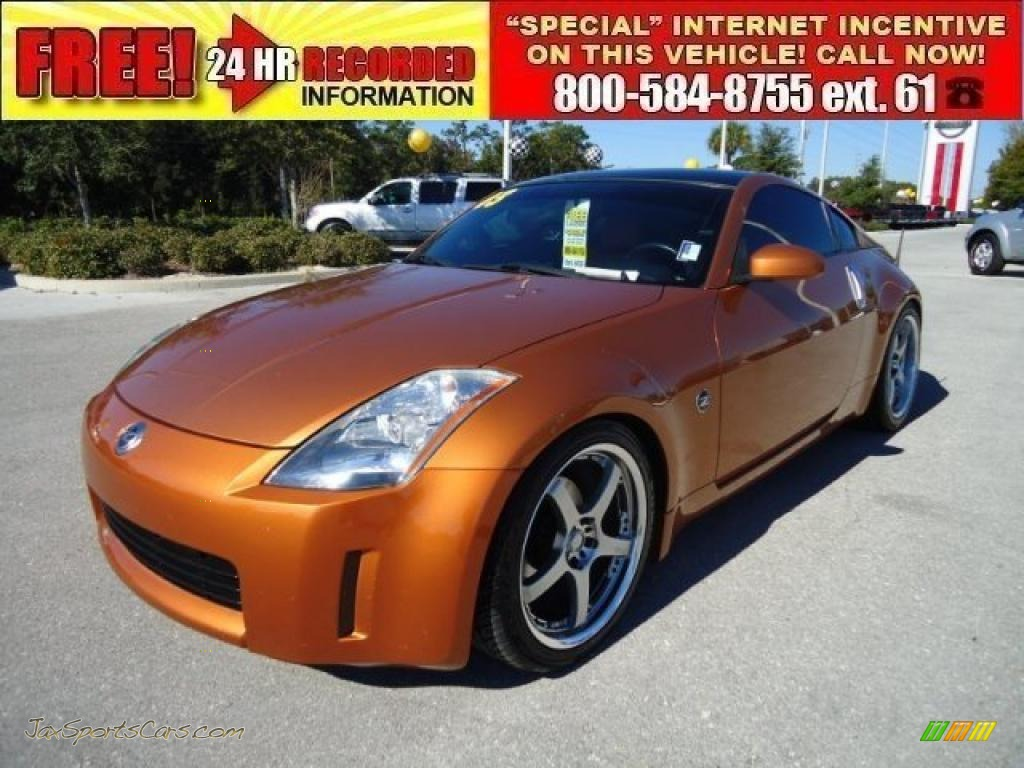2003 nissan 350z touring coupe in le mans sunset 005742 for Orange motor co inc