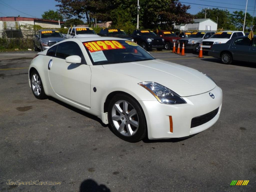 2004 Nissan 350z Touring Coupe In Pikes Peak White Pearl 100625 Jax Sports Cars Cars For