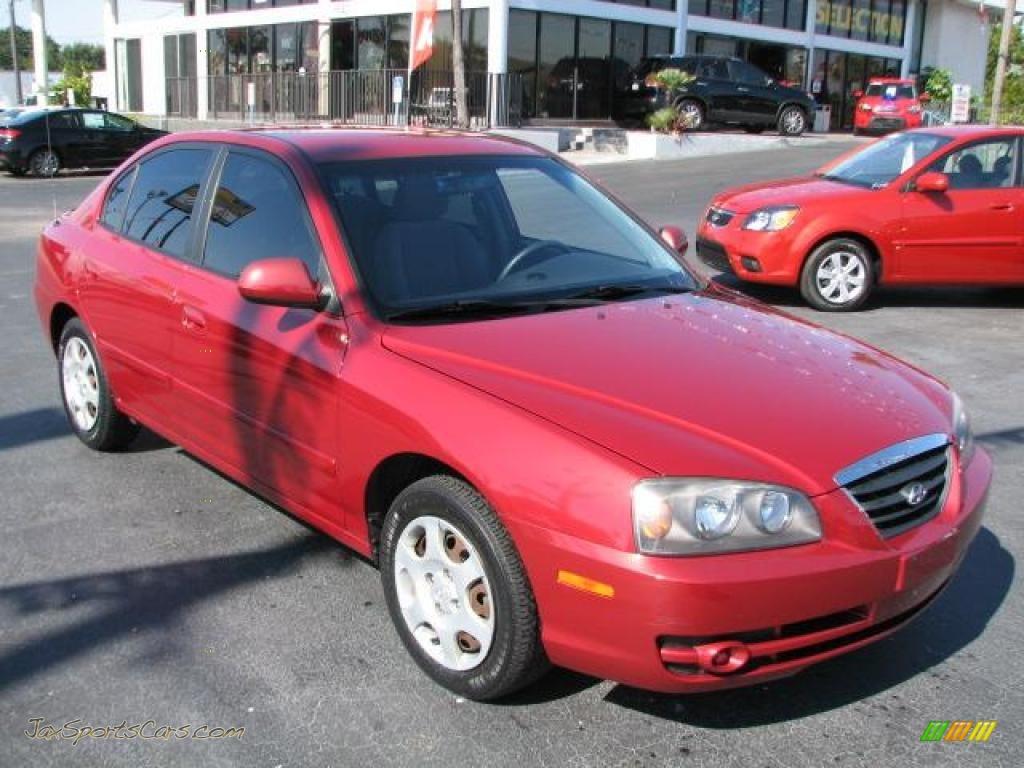 2005 hyundai elantra gt sedan in electric red metallic. Black Bedroom Furniture Sets. Home Design Ideas