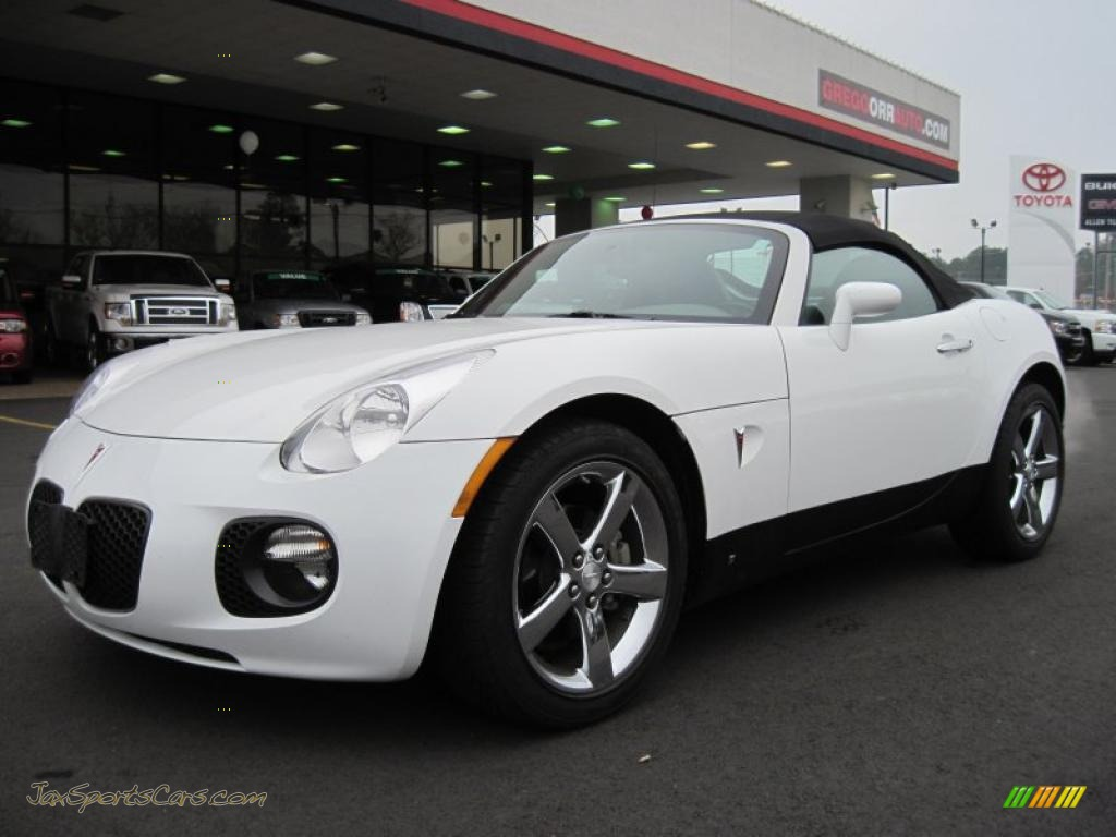 2008 Pontiac Solstice Gxp Roadster In Pure White 107895