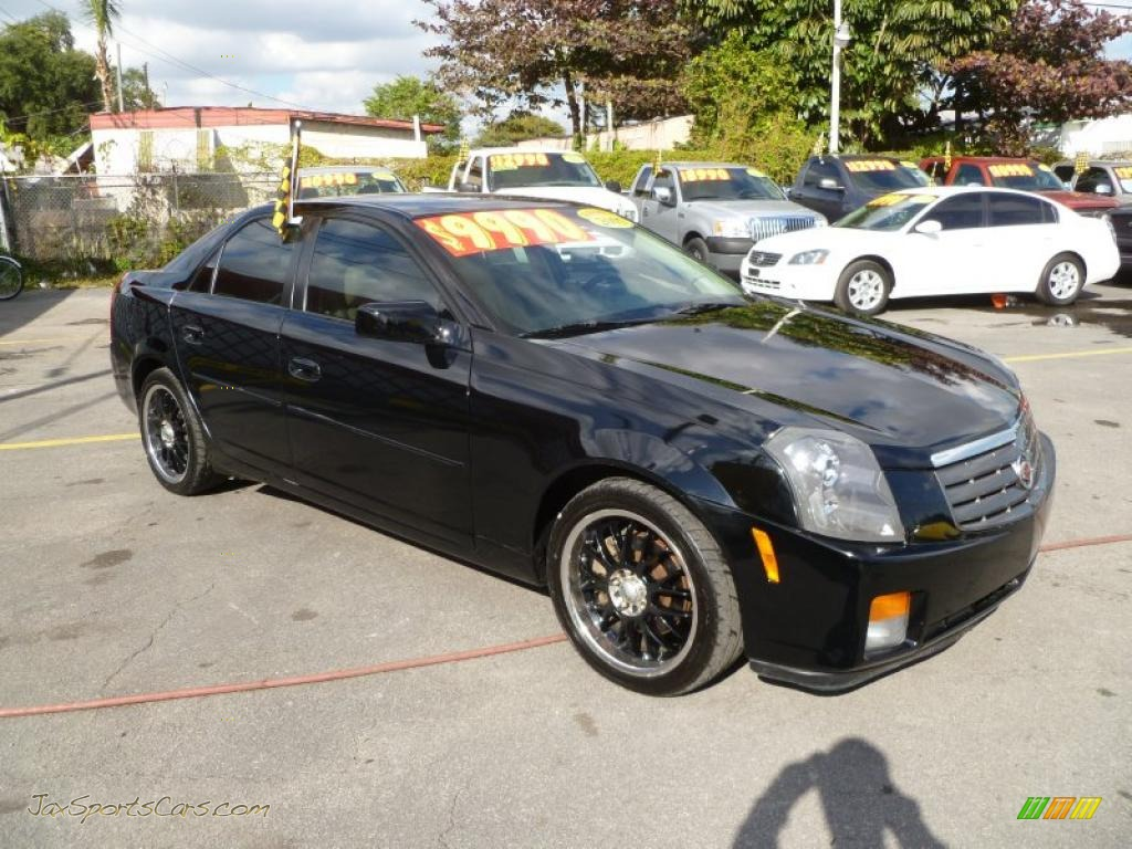 2005 cadillac cts sedan in black raven 134240 jax sports cars cars for sale in florida. Black Bedroom Furniture Sets. Home Design Ideas