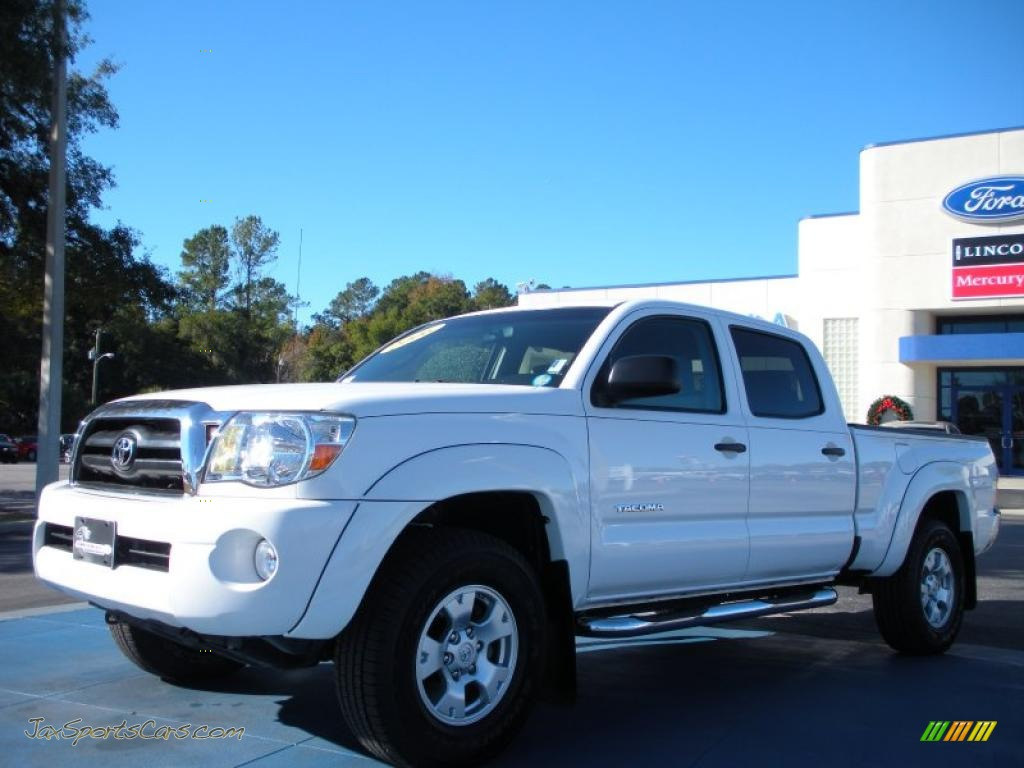 2006 toyota tacoma v6 prerunner double cab in super white 006874 jax sports cars cars for. Black Bedroom Furniture Sets. Home Design Ideas