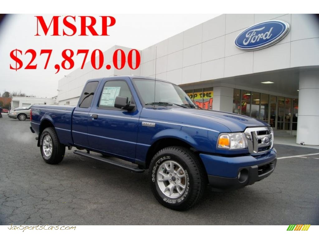 2011 ford ranger xlt supercab 4x4 in vista blue metallic. Black Bedroom Furniture Sets. Home Design Ideas
