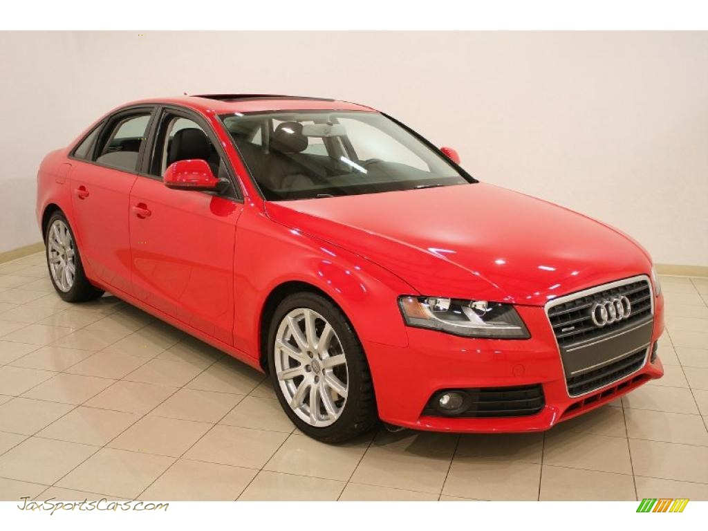 2009 audi a4 2 0t premium quattro sedan in brilliant red 027976 jax sports cars cars for. Black Bedroom Furniture Sets. Home Design Ideas