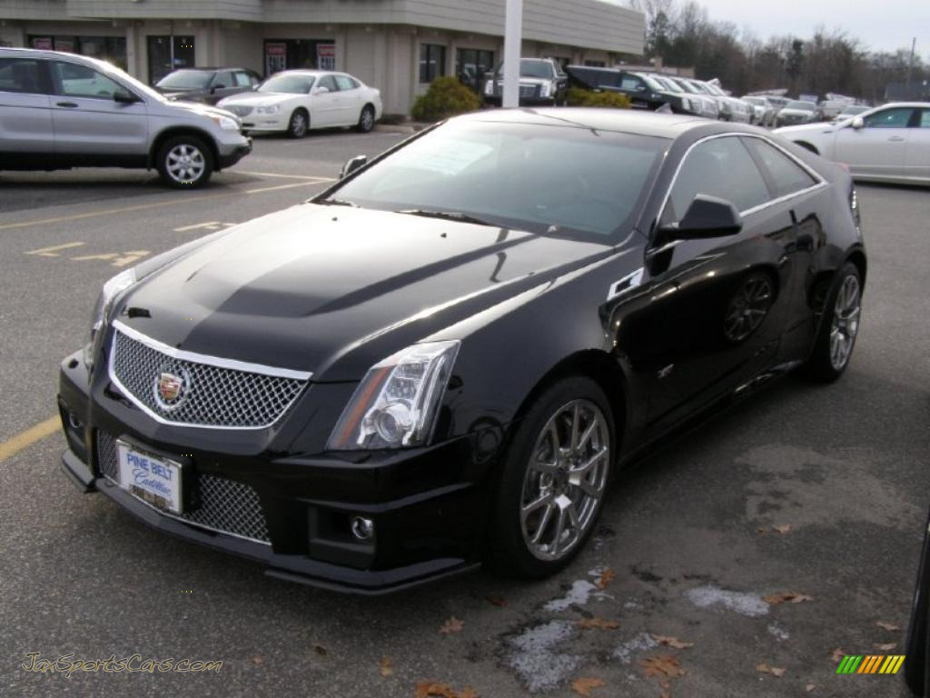 2011 cadillac cts v coupe in black raven 122841 jax sports cars cars for sale in florida. Black Bedroom Furniture Sets. Home Design Ideas