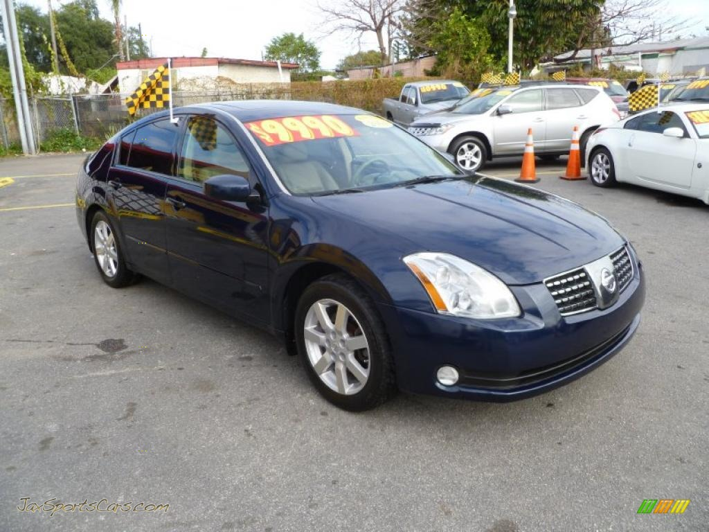 2004 nissan maxima 3 5 sl in majestic blue metallic 908487 jax sports cars cars for sale. Black Bedroom Furniture Sets. Home Design Ideas