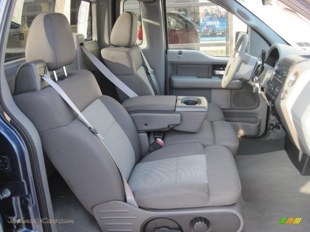 2005 F150 XLT Regular Cab 4x4   Medium Wedgewood Blue Metallic / Medium  Flint Grey Photo