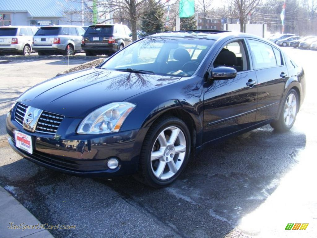 Majestic blue metallic black nissan maxima 3 5 se