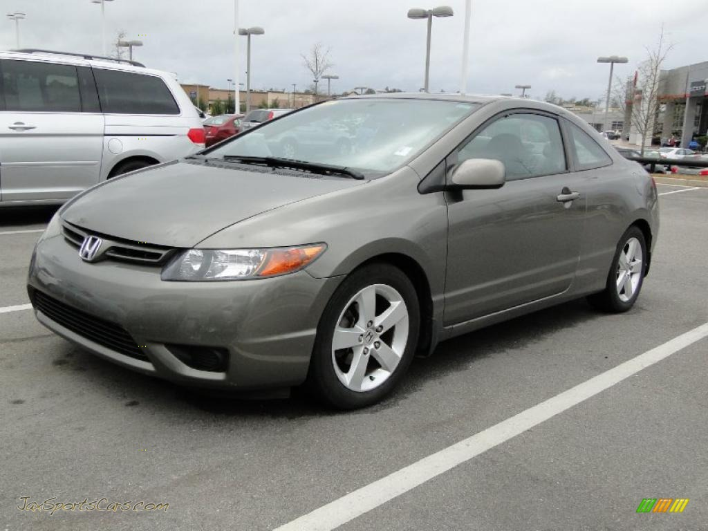 2006 honda civic ex coupe in galaxy gray metallic 531896 jax sports cars cars for sale in. Black Bedroom Furniture Sets. Home Design Ideas