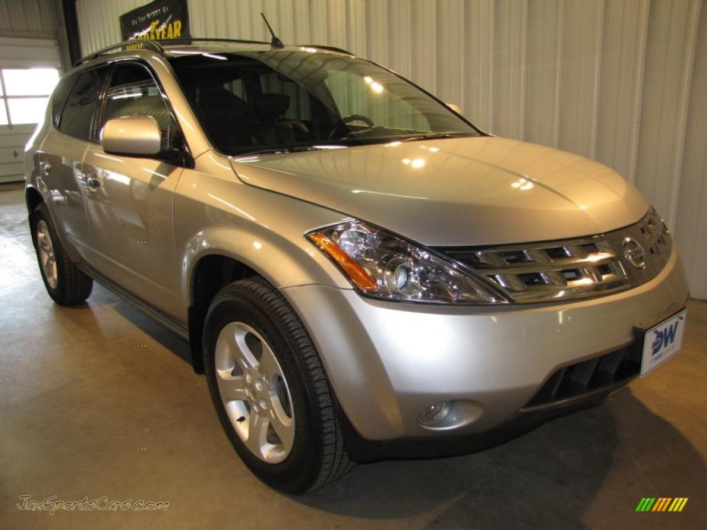 2004 nissan murano sl awd in sheer silver metallic 335224 jax sports cars cars for sale in. Black Bedroom Furniture Sets. Home Design Ideas