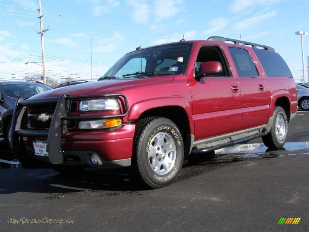 2004 Chevrolet Suburban 1500 Z71 4x4 In Sport Red Metallic