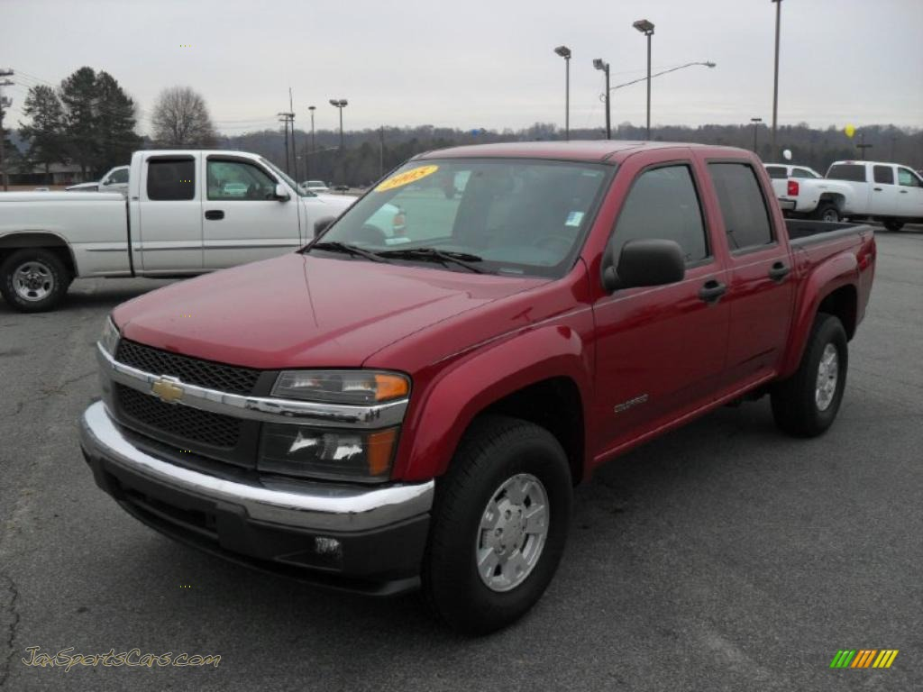 2005 chevrolet colorado ls crew cab in dark cherry red metallic 124575 jax sports cars. Black Bedroom Furniture Sets. Home Design Ideas