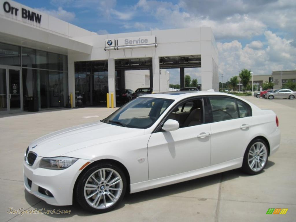 Alpine white beige bmw 3 series 328i sedan