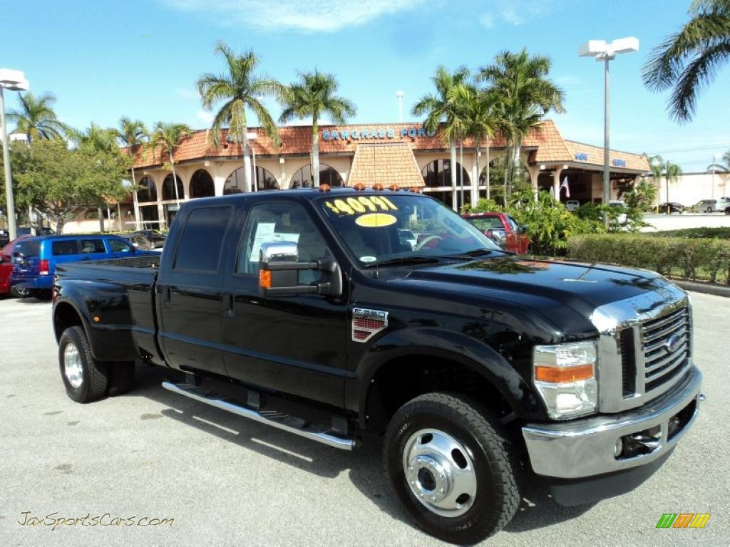 2008 ford f350 super duty lariat crew cab 4x4 dually in black c33747 jax sports cars cars