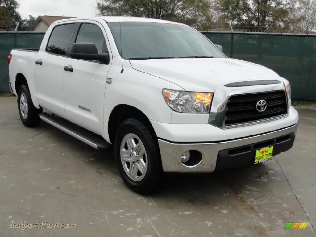 2009 toyota tundra crewmax in super white 028693 jax sports cars cars for sale in florida. Black Bedroom Furniture Sets. Home Design Ideas