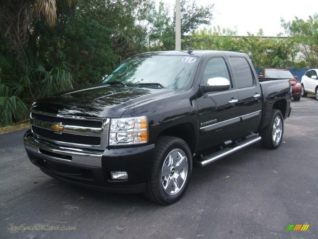 2011 chevrolet silverado 1500 lt crew cab in black 216926 jax sports cars cars for sale in. Black Bedroom Furniture Sets. Home Design Ideas