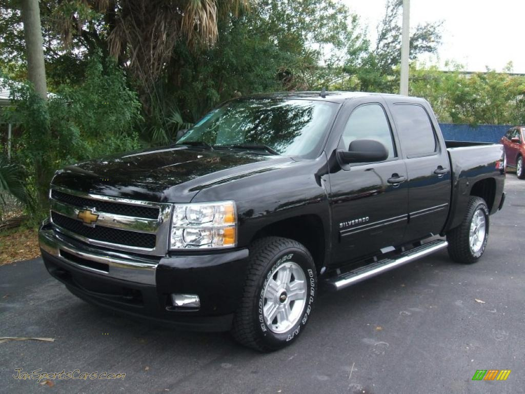 2011 chevrolet silverado 1500 lt crew cab 4x4 in black 164054 jax sports cars cars for. Black Bedroom Furniture Sets. Home Design Ideas