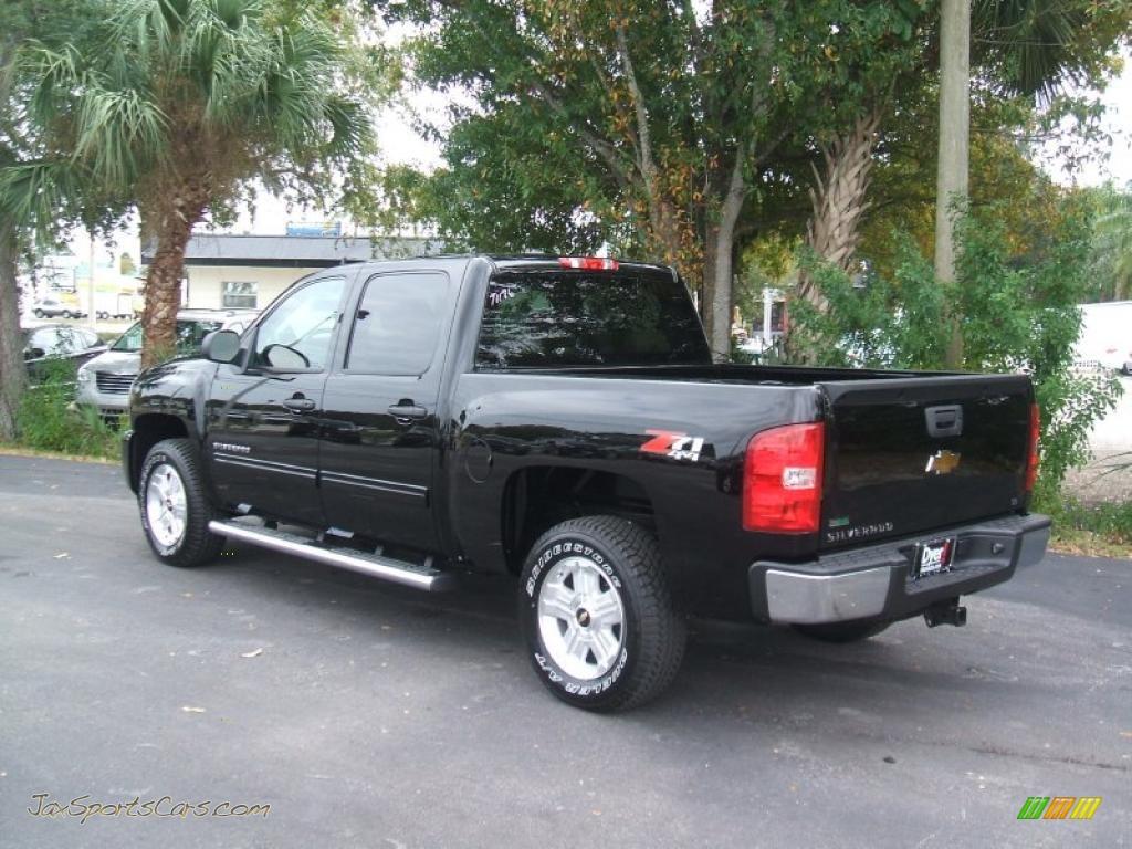 2011 chevrolet silverado 1500 lt crew cab 4x4 in black photo 4 164054 jax sports cars. Black Bedroom Furniture Sets. Home Design Ideas