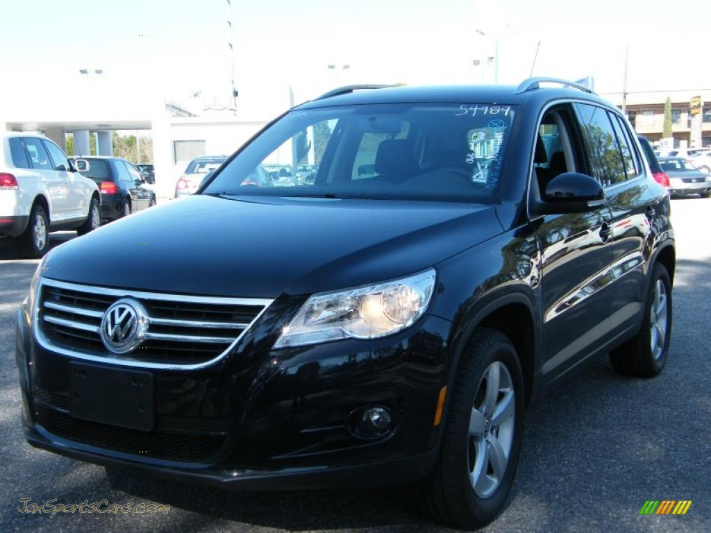 2010 volkswagen tiguan wolfsburg edition 4motion in deep black metallic 514062 jax sports. Black Bedroom Furniture Sets. Home Design Ideas