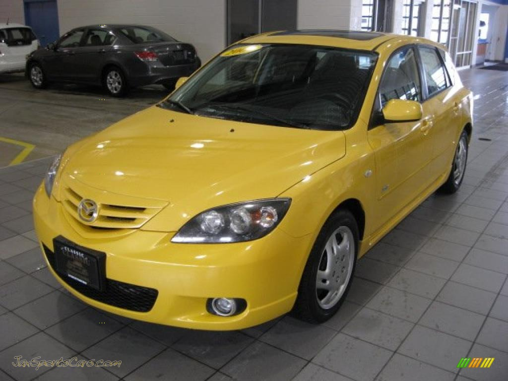 2004 mazda mazda3 s hatchback in solar yellow mica photo 2 194939 jax sports cars cars. Black Bedroom Furniture Sets. Home Design Ideas