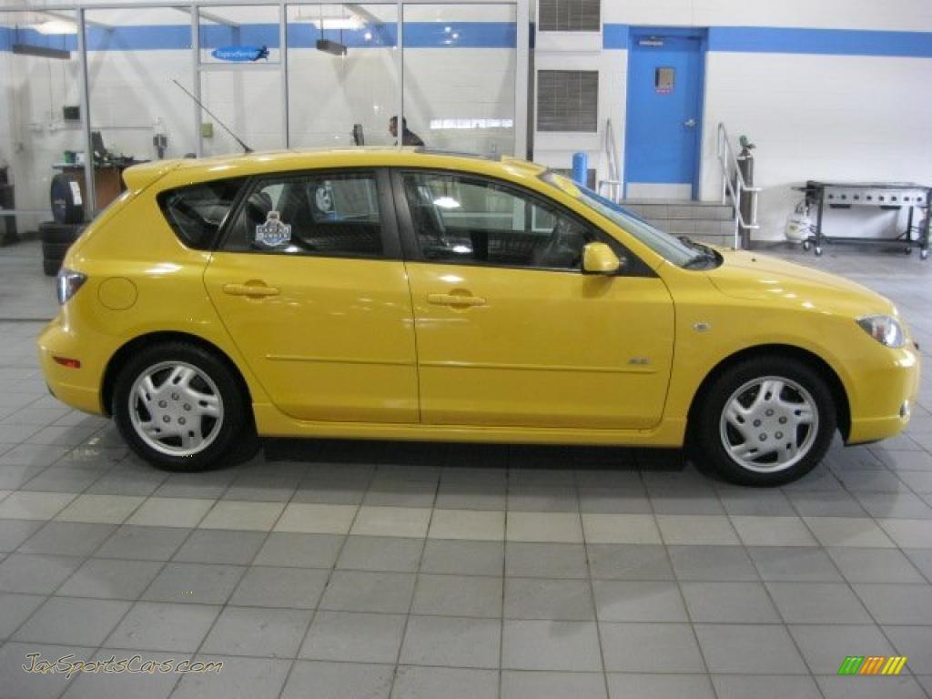 2004 Mazda Mazda3 S Hatchback In Solar Yellow Mica Photo