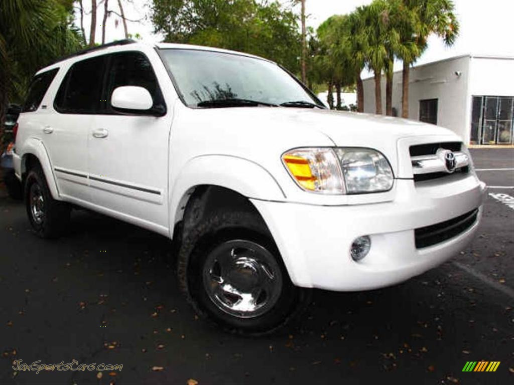 2005 toyota sequoia sr5 4wd in natural white 249845 jax sports cars cars for sale in florida. Black Bedroom Furniture Sets. Home Design Ideas