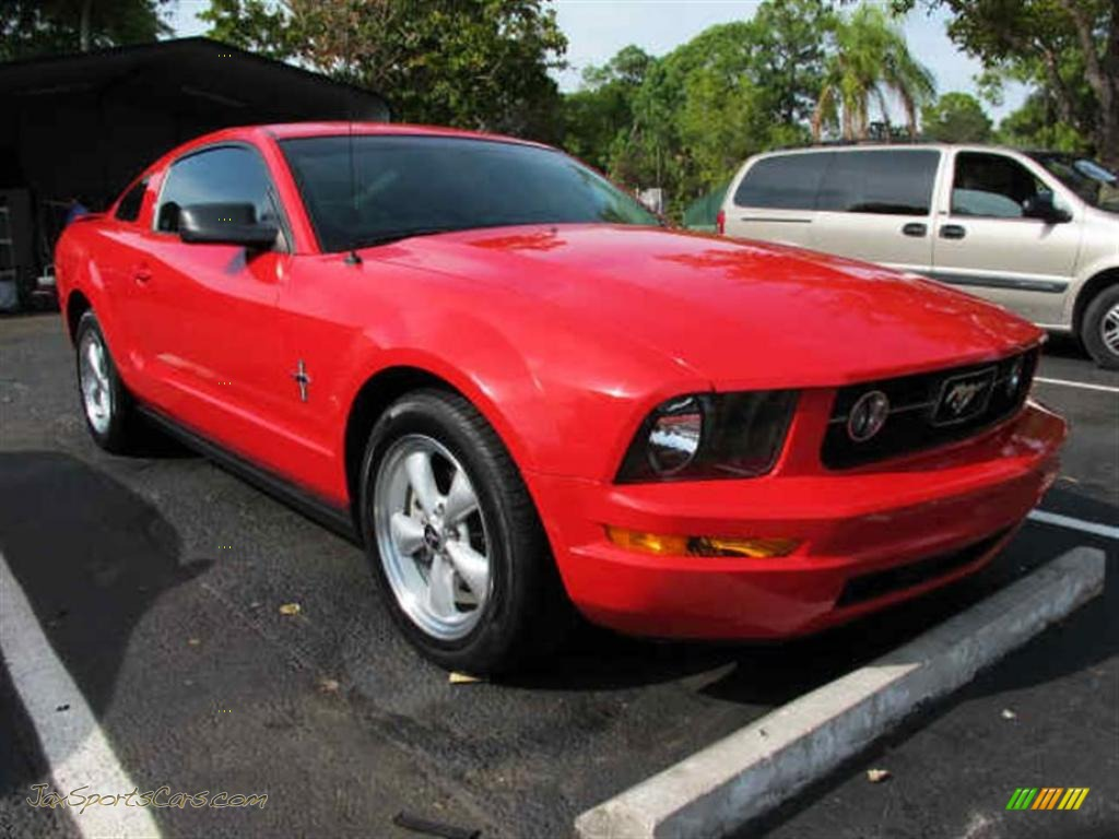 2007 ford mustang v6 deluxe coupe in torch red 370132 jax sports torch red dark charcoal ford mustang v6 deluxe coupe publicscrutiny Image collections