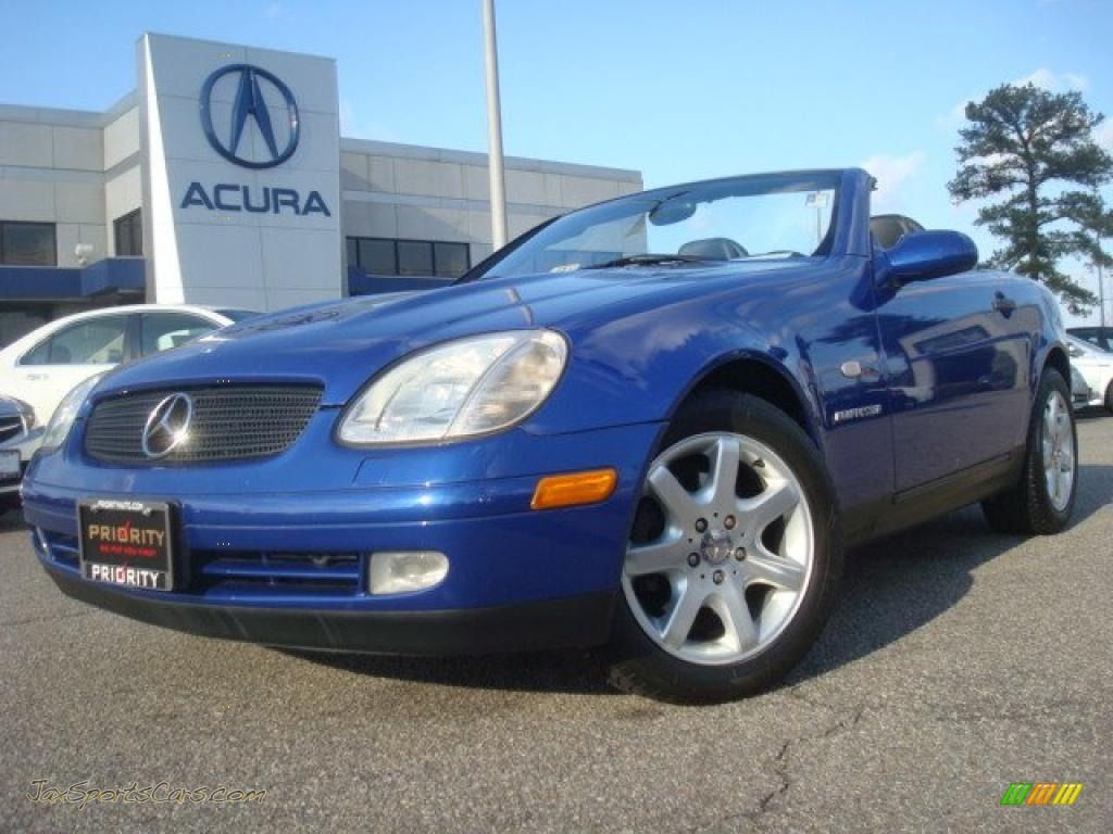1998 mercedes benz slk 230 kompressor roadster in bahama blue metallic 013522 jax sports. Black Bedroom Furniture Sets. Home Design Ideas