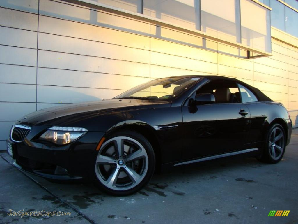 2008 bmw 6 series 650i convertible in black sapphire metallic x63642 jax sports cars cars. Black Bedroom Furniture Sets. Home Design Ideas