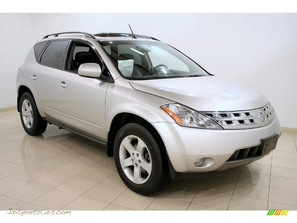 2005 nissan murano sl awd in sheer silver metallic 414653 jax sports cars cars for sale in. Black Bedroom Furniture Sets. Home Design Ideas