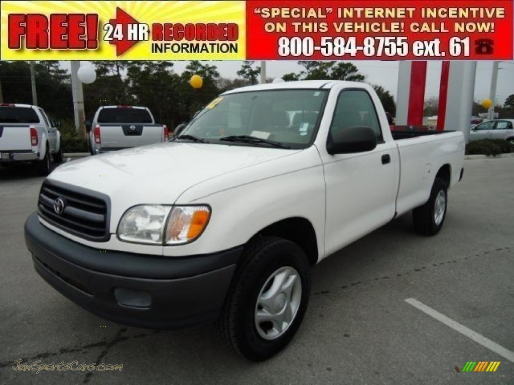 2002 toyota tundra regular cab in natural white 273650 jax sports cars cars for sale in. Black Bedroom Furniture Sets. Home Design Ideas
