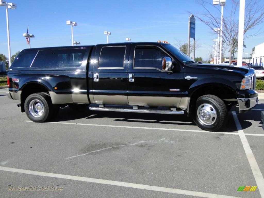 2007 ford f350 super duty king ranch crew cab 4x4 dually in black a06906 jax sports cars. Black Bedroom Furniture Sets. Home Design Ideas