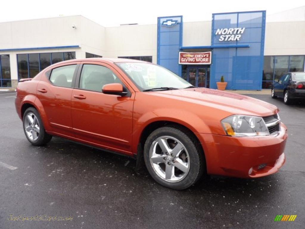 2008 Dodge Avenger R T Awd In Sunburst Orange Pearl