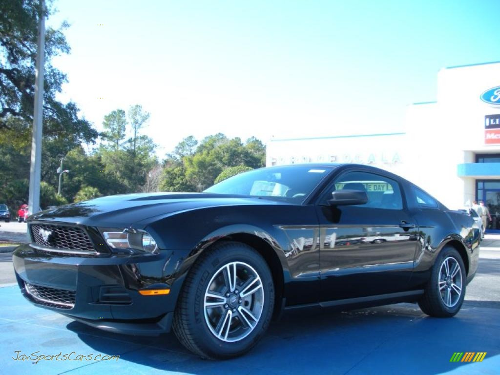 2011 ford mustang v6 premium coupe in ebony black 167890 jax sports cars cars for sale in. Black Bedroom Furniture Sets. Home Design Ideas